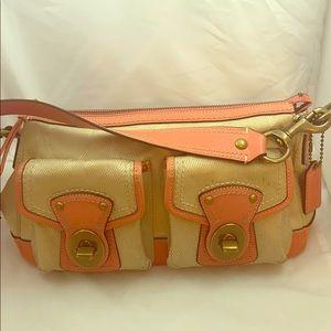 Leather Lagacy F13102 Peach  Canvas Shoulder Bag